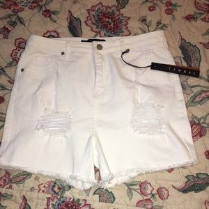 NWT Tinsel White Shorts